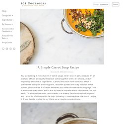 A Simple Carrot Soup Recipe