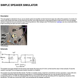 A simple speaker simulator