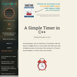 A Simple Timer in C++