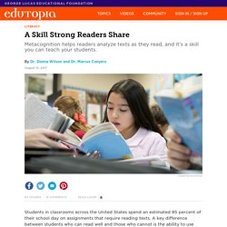 A Skill Strong Readers Share