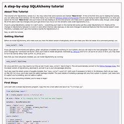 A step-by-step SQLAlchemy tutorial
