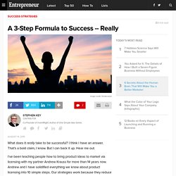 A 3-Step Formula to Success