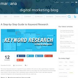 A Step-by-Step Guide to Keyword Research