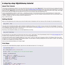 A step-by-step SQLAlchemy tutorial