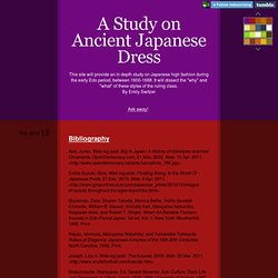 A Study on Ancient Japanese Dress