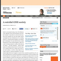 A suicidal GNH society