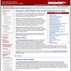 A Summary of Major DOL Laws