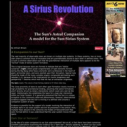 A Sun-Sirius System?