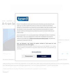 A-t-on le droit de désobéir ? Raphael Enthoven / Europe 1, (1min29)