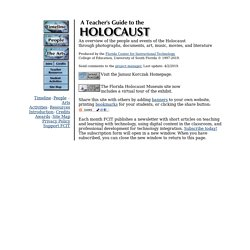A Teacher's Guide to the Holocaust