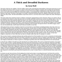 A Thick and Dreadful Darkness