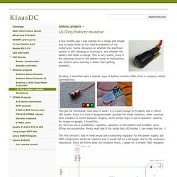 (A)Tiny battery monitor - KlaasDC