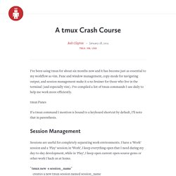 A tmux Crash Course