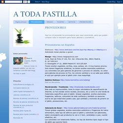 A TODA PASTILLA: PROVEEDORES