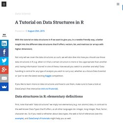 A Tutorial on Data Structures in R