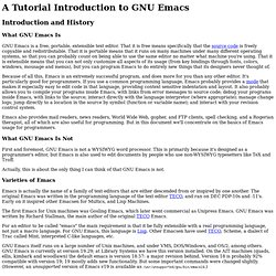 A Tutorial Introduction to Emacs - Iceweasel