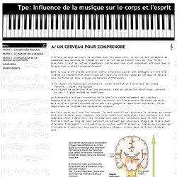 A/ UN CERVEAU POUR COMPRENDRE - Tpe: Influence de la musique sur le corps et l'esprit