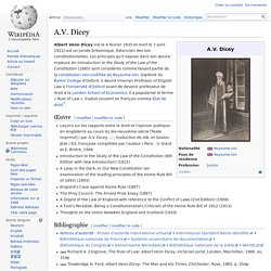 A.V. Dicey