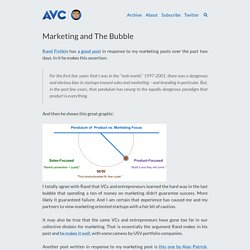 Marketing and The Bubble