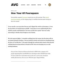 One Year Of Foursquare