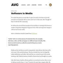 Software Is Media