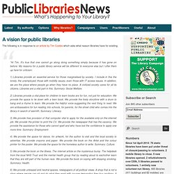 A vision for public libraries