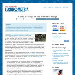 A Web of Things on the Internet of Things