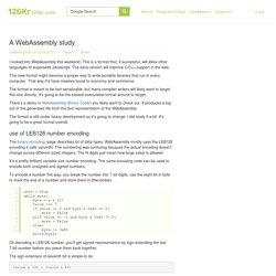 A WebAssembly study - 【126Kr】
