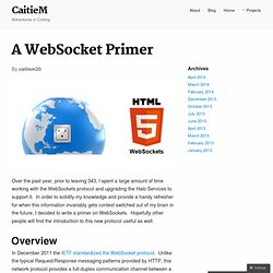 A WebSocket Primer | CaitieM