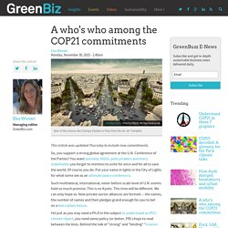 A who's who among the COP21 commitments
