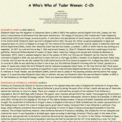A Who's Who of Tudor Women (C-Ch)