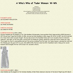 A Who's Who of Tudor Women (W-Wh)