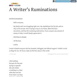 A Writer's Ruminations