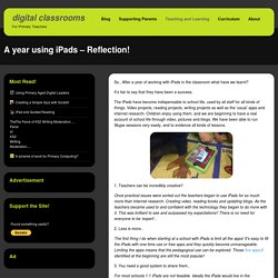 A year using iPads – Reflection!