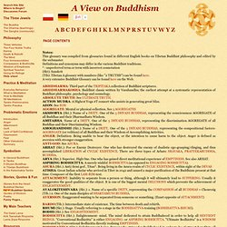 BUDDHIST - A to Z Glossary