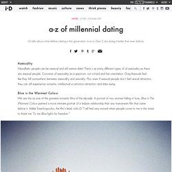 a-z of millennial dating