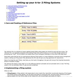 A to Z Reference Files