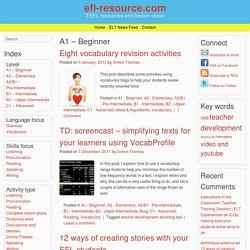 A1 – Beginner