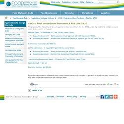FOODSTANDARDS_GOV_AU 29/12/17 A1138 – Food derived from Provitamin A Rice Line GR2E
