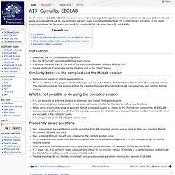 A13: Compiled EEGLAB - SCCN
