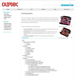 A13-OLinuXino - Olimex