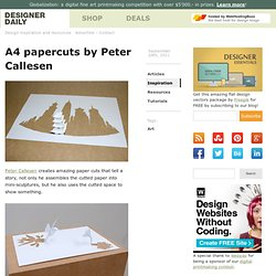 A4 papercuts by Peter Callesen - StumbleUpon