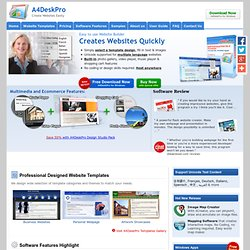 A4DeskPro Flash Website Builder - Create your own website and host anywhere. Website builder, build website, flash creator, make a website