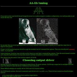 AA-lib tuning