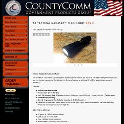 AA Tactical Maratac Flashlight