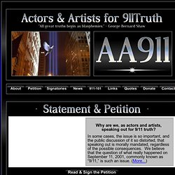 www.actorsandartistsfor911truth.org