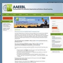Association for Authentic, Experiential and Evidence-Based Learning (AAEEBL) - Home for the World ePortfolio Community