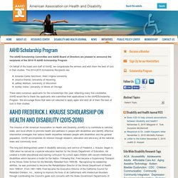 AAHD Scholarship Program