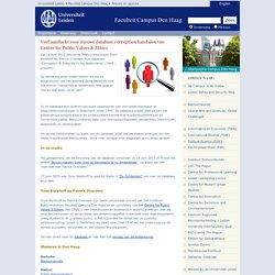 Veel aandacht voor nieuwe database corruptieschandalen van Centre for Public Values & Ethics - Nieuws en agenda - Campus Den Haag