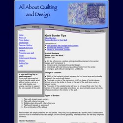 AAQuilting - Tips - Borders